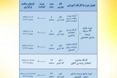 دوره های مجازی آنلاین در حیطه شغلی- تحصیلی و تربیتی در بهمن ماه ۱۳۹۹